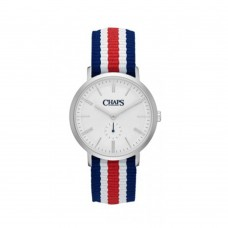 Chaps Chaps Men's Dunham Striped Canvas Watch